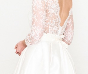 bride, lace, and lace wedding dress image