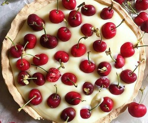 cherry, berries, and cake image