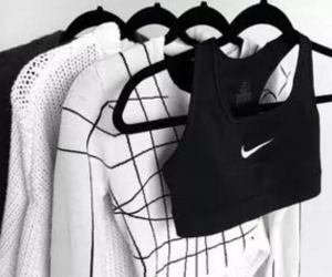 black, black and white, and nike image
