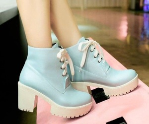 blue, pretty, and boots image