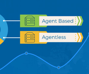 server monitoring, agent less monitoring, and agent based monitoring image