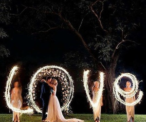 love, wedding, and light image
