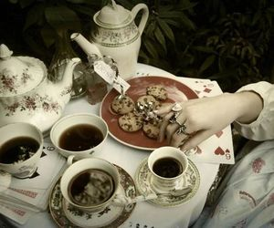 tea, alice, and Cookies image