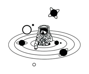 space and white image