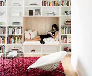 book, reading, and home image