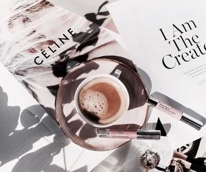 coffee, chic, and makeup image