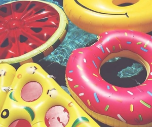 pool, donut, and pizza image