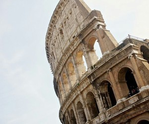 colloseum, sky, and italy image