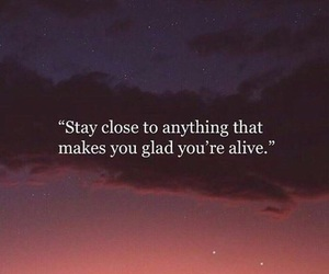 quotes, sky, and alive image