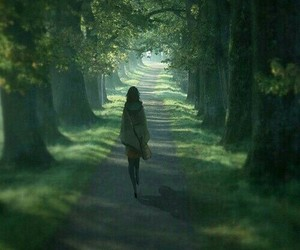 art, girl, and forest image
