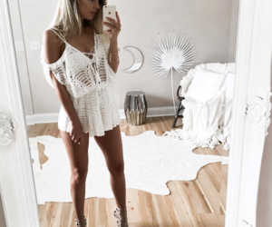 bikini, blond, and blonde image