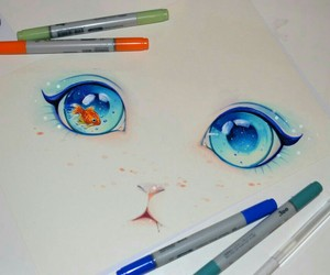 eyes, blue, and cat image