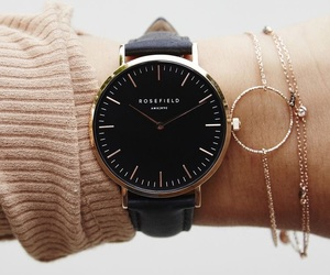 watch, accessories, and black image