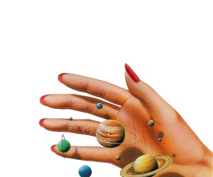 hand, editing, and planets image