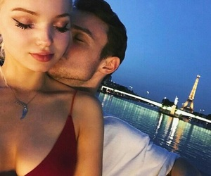 couple, dove cameron, and kiss image