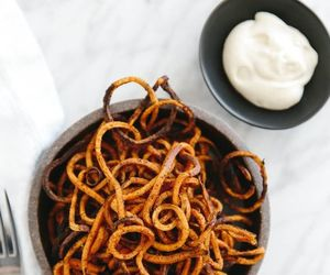 curly, delicious, and food image