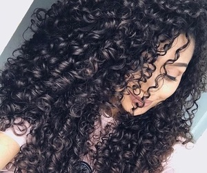 curly hair, style, and fashion image