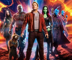 Marvel, rocket, and zoe saldana image