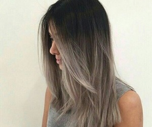hair, ombre, and grey image
