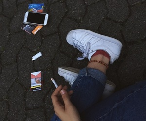 adidas, cigarette, and iphone image