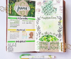 art journal, diary, and hand lettering image