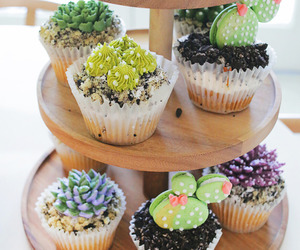baking, cactus, and cupcakes image