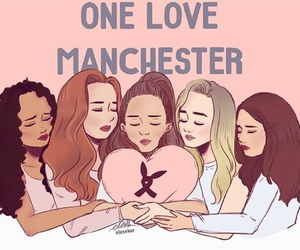 ariana grande, manchester, and little mix image