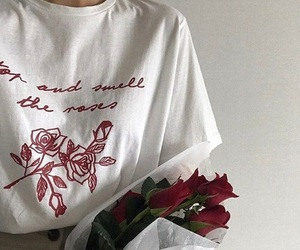 aesthetic, clothes, and rose image