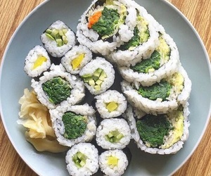 food, sushi, and yum image