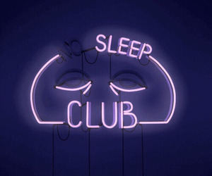 neon, sleep, and purple image