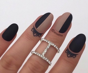 nails and black and beige image