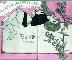 art journal, illustration, and Lyrics image