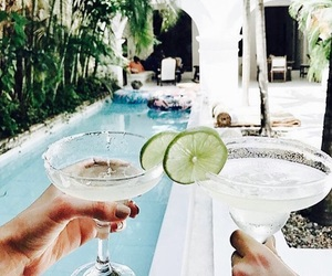 drinks, lifestyle, and margarita image