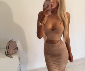 backpack, beige, and blond image