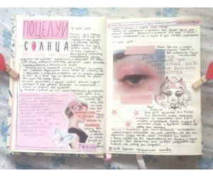 diary, pink, and notebook image