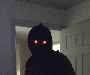 creepy and black image