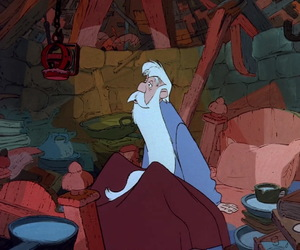animation, disney, and merlin image
