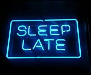 sleep, neon, and grunge image