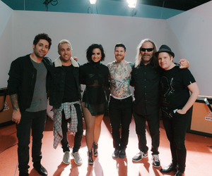 demi lovato, fall out boy, and irresistible image