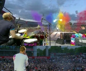 coldplay, manchester, and koncert image