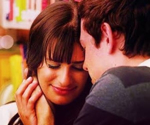 finchel, glee, and lea michele image