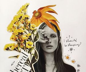 Collage, flowers, and art image