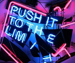beautiful, neon, and neon sign image