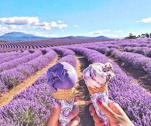ice cream and purple image