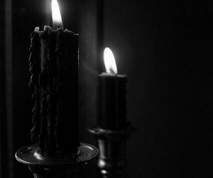 black, candle, and dark image