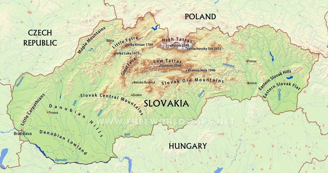 map, geography, and slovakia image