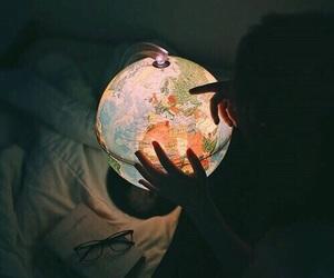 world, travel, and light image