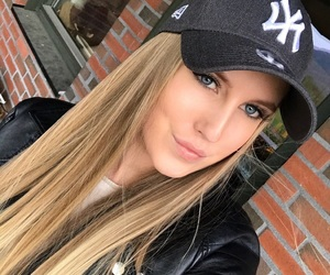 blonde, caps, and grey image