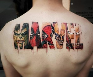 Marvel, tattoo, and marvel's tattoo image