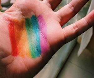 amor, gay, and rainbow image